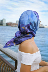 super model, east river, luxury silk, nyc