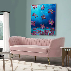 Art for home, floral prints, pink, difiore