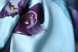 silk, orchid