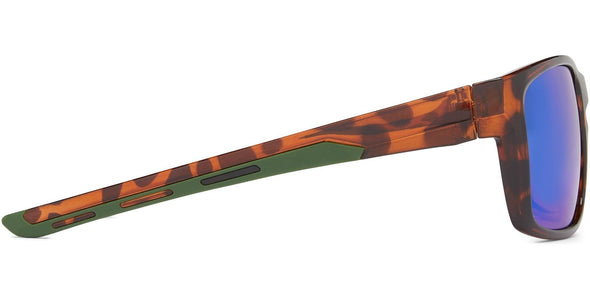Pargo - Shiny Tortoise w Green/Brown/Green Mirror - Polarized Sunglasses (4572069003367)