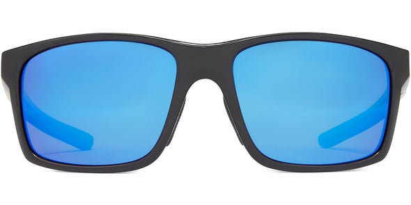 Pargo - Shiny Black w Gray/Gray/Blue Mirror - Polarized Sunglasses (4572068315239)