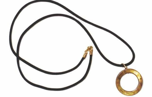 Shell Pendant Leash 29 Black Cord - Accessory (4507543470183)