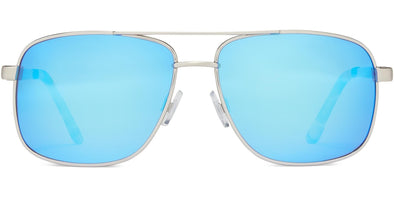 Copy of Skipper - Brushed Metal/Gray/Blue Mirror - Polarized Sunglasses (4572044361831)