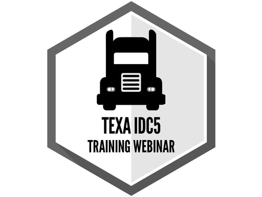 TEXA IDC5 - Training Webinar