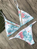 Printed Top With Panty Bikini Set