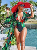Printed Bohemia Plus Size One-piece Swimwear