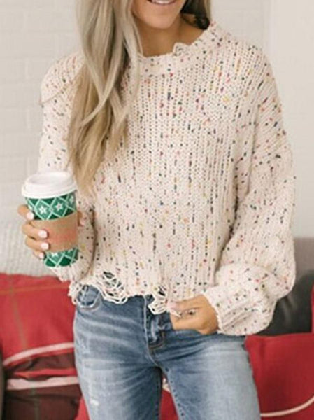Fshion Long Sleeves Sweater Tops