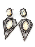 Bohemian Vintage Ethnic Earrings Triangle Water Drops Earrings