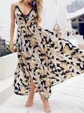 Fashion Floral Spaghetti-neck Maxi Dress