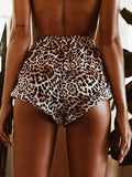 Leopard Print Fashion Short Bottoms