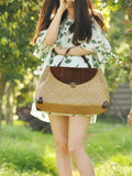 Fashion Rattan Knitting Handbag
