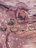 Arrow And Leaf Carved Vintage Rings Accessories