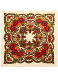Bohemia Floral Real Silk Cape Scarf