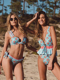 Printed Lace Bikinis Swimwear