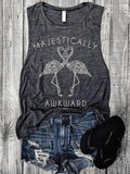 Casual Sleeveless Letter Printed Waistcoat