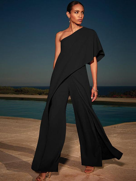 Fashion 4 Colors Off-the-shoulder Long Jumpsuits