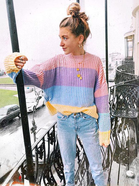 Fashion Loose Knitting Sweater Tops