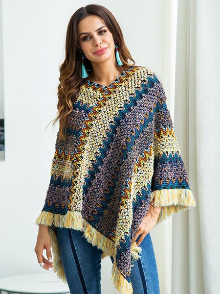 Bohemia Retro Loose Tassels Sweater Tops