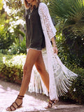 Lace Tasseled Bikini Swimwear Cover-up