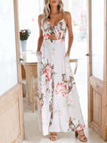 Printed Condole Belt Bohemia Dress