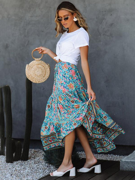 National Printed Bohemia Skirt