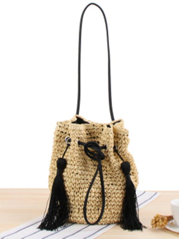 Double Tassels String Crossbody Bag
