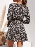 Leopard Bandage V-neck Mini Dresses
