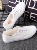 Canvas Low Top Slip-on Shoes