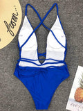 Solid Backless One-Piece Swimsuit