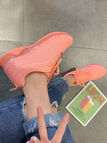 Orange Round Toe Flat Fashion Shoes