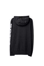 GRAPHIC LOGO HOODIE BLACK / ENZYMATIC WASHED