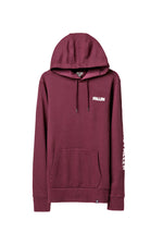GRAPHIC LOGO HOODIE BORDEAUX/ENZYMATIC WASH