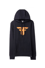 TRADEMARK HOODIE BLACK/RUST ORANGE