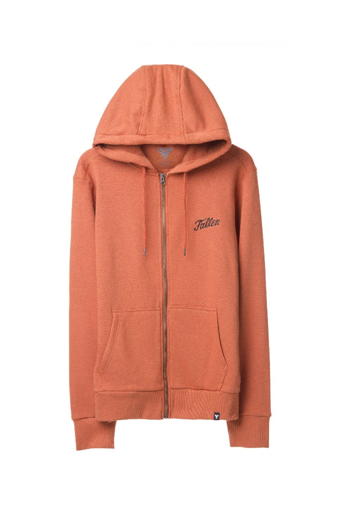 FURY HOODIE WITH ZIPPER RUST