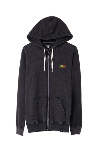 ROOTS HOODIE BLACK/ENZYMATIC WASH