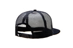 PLATE TRUCKER BLACK/WHITE CAP