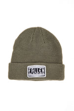 HENDLEY PATCH MILITARY GREEN BEANIE