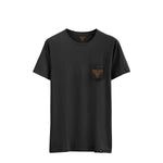 INSIGNIA POCKET TEE BLACK BROWN / WASHED