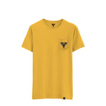 INSIGNIA POCKET TEE MUSTARD / WASHED