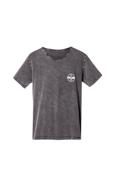 HERITAGE TEE BLACK / ENZYMATIC WASHED
