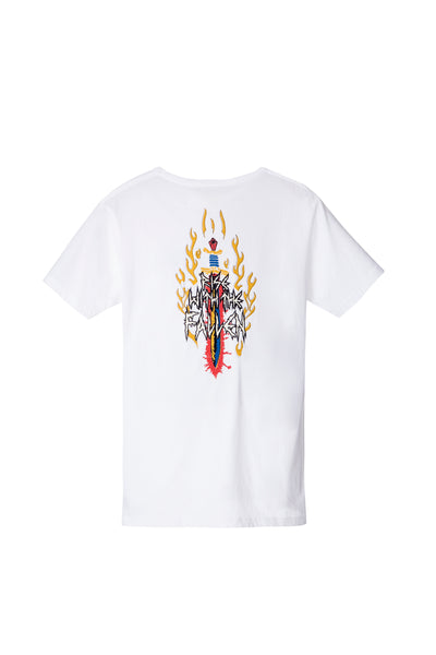 BY THE SWORD TEE WHITE