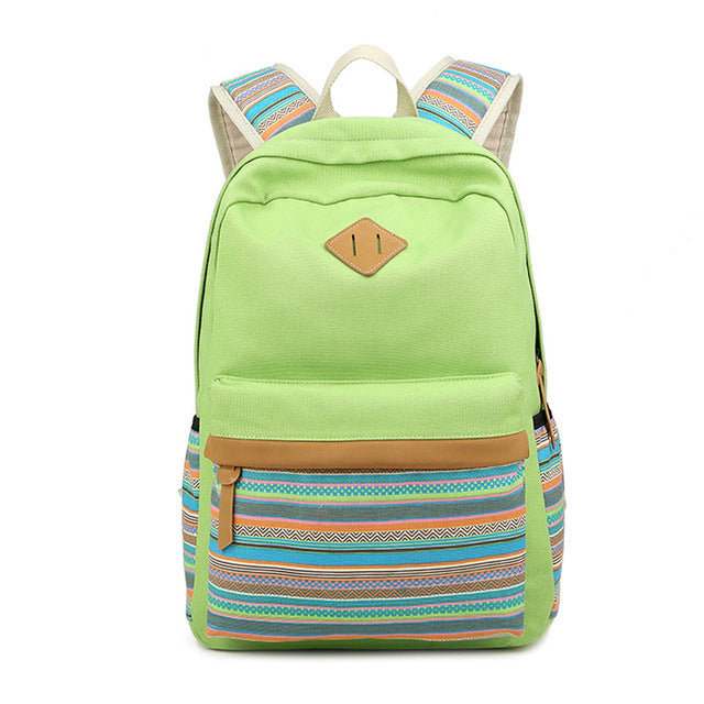 Girl's Striped Backpack