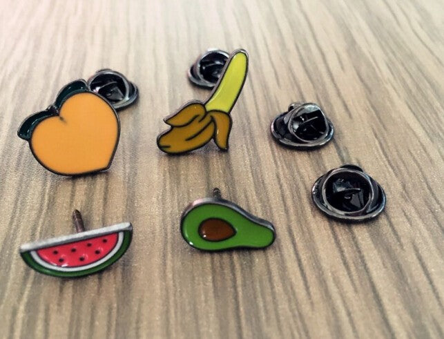 Acrylic Fruit Brooches