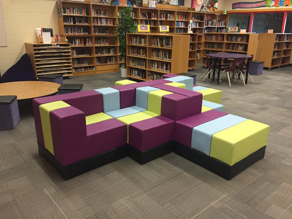 Modular Classroom Furniture ~ Featured installations of cellular modular furniture by oi