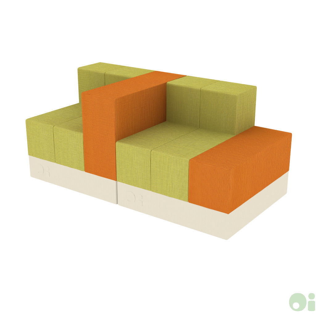 2Scape Sofa in Oriole & Sprout