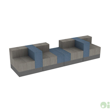 4Scape Commons Bench in Tidal & Forge