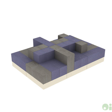 6Scape Lounge Sectional in Myth & Forge