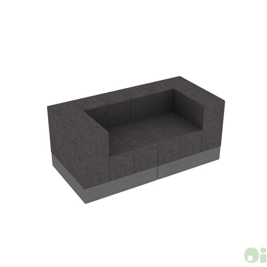 2Scape Sofa in Silica Leather Pewter