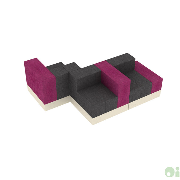 3Scape Lounge in Fucsia & Graphite