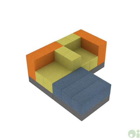 3Scape Sectional in Myth, Sprout & Oriole